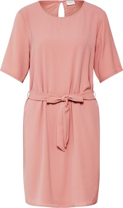 Różowa sukienka JACQUELINE DE YONG w stylu casual z krótkim rękawem mini