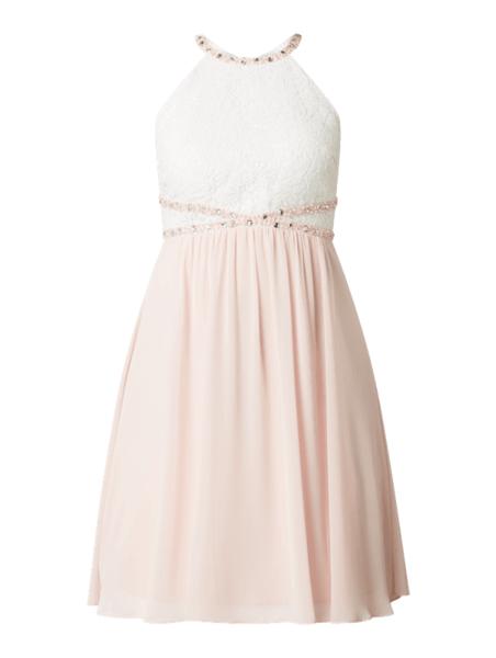 Różowa sukienka Jake*s Cocktail z dekoltem halter bez rękawów mini