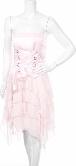 Różowa sukienka Jessica Mc Clintock bez rękawów