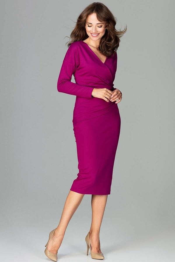 Różowa sukienka Katrus midi