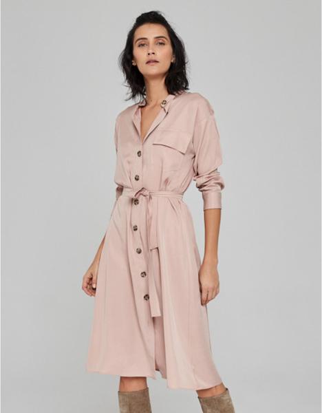 Różowa sukienka Klaudyna Cerklewicz