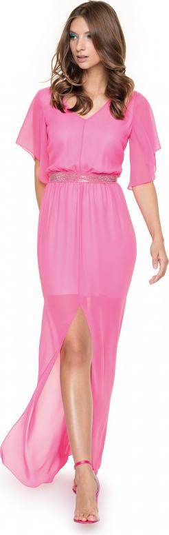 Różowa sukienka L'AF maxi