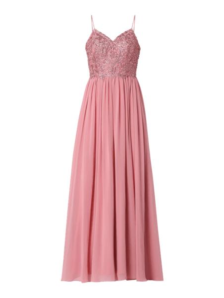 Różowa sukienka Laona maxi