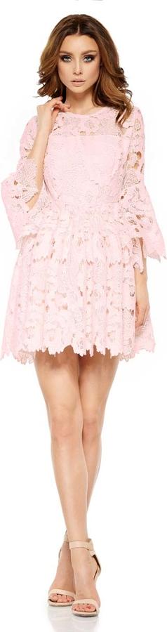 Różowa sukienka Lemoniade z okrągłym dekoltem mini