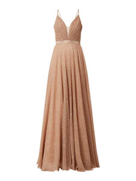Różowa sukienka Luxuar bez rękawów