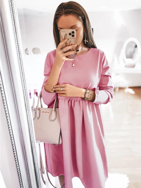 Różowa sukienka magmac.pl rozkloszowana