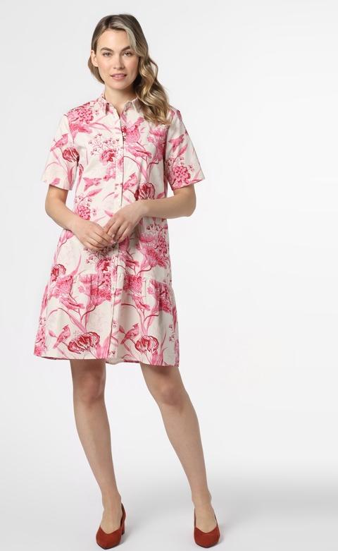 Różowa sukienka Marie Lund z krótkim rękawem
