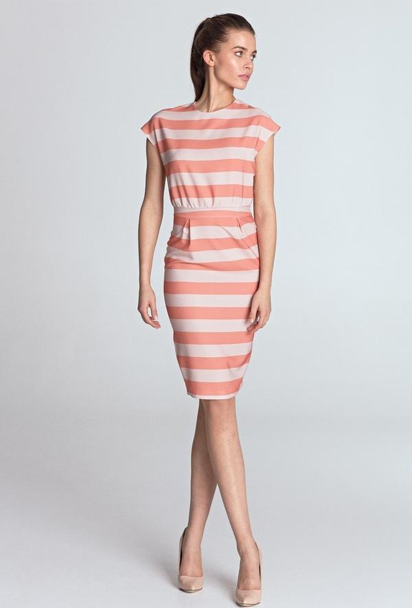 Różowa sukienka Merg ołówkowa