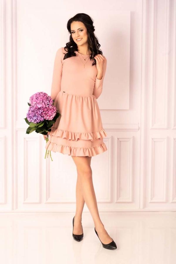 Różowa sukienka MERRIBEL mini z bawełny