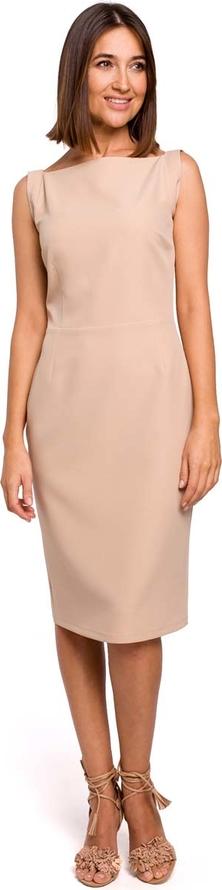 Różowa sukienka MOE dopasowana