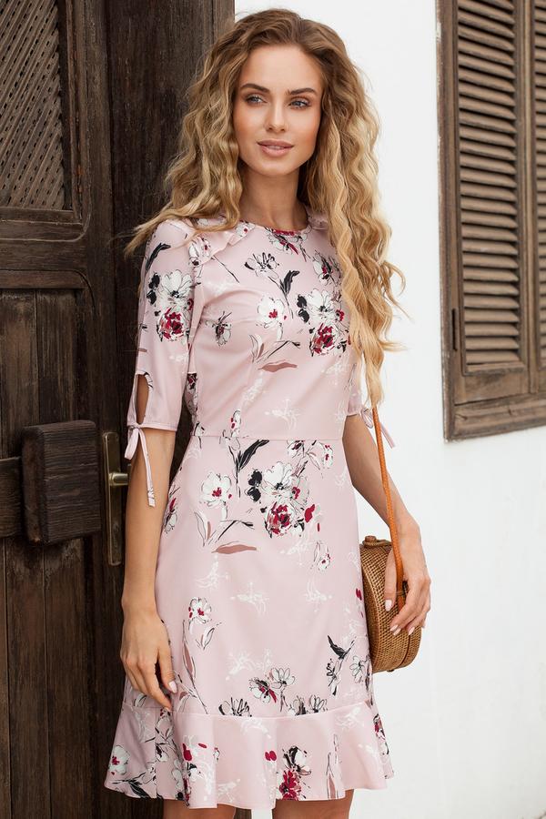 Różowa sukienka MOE midi w stylu casual