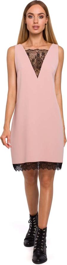 Różowa sukienka MOE oversize