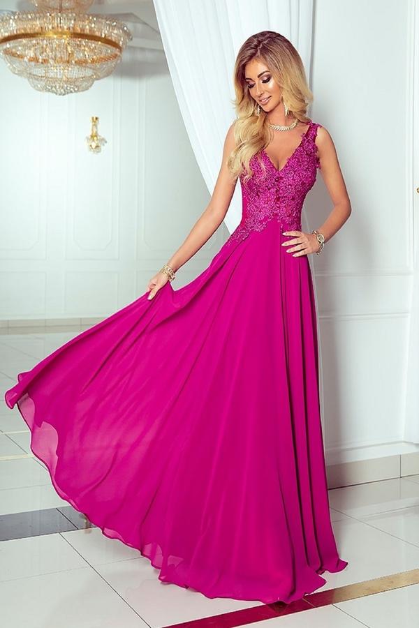 Różowa sukienka N/A rozkloszowana bez rękawów z tiulu