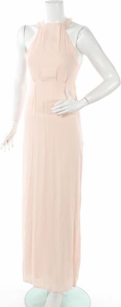 Różowa sukienka Nly Eve z dekoltem halter prosta
