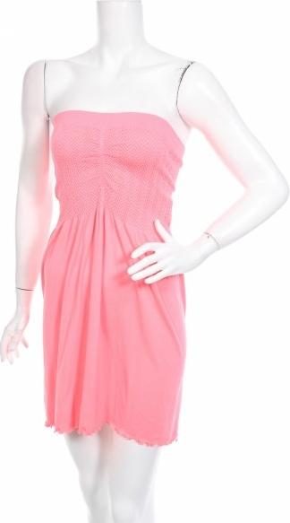 Różowa sukienka Ocean Club gorsetowa w stylu casual mini