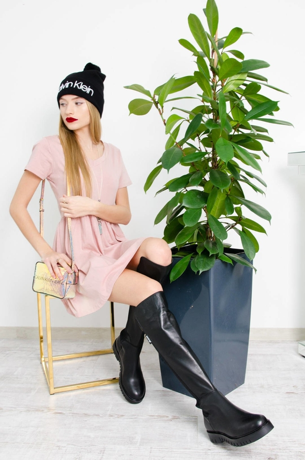 Różowa sukienka Olika