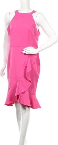 Różowa sukienka Paper Dolls bez rękawów z okrągłym dekoltem