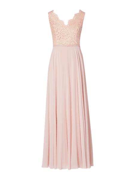 Różowa sukienka Paradi z szyfonu