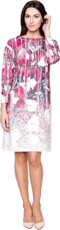 Różowa sukienka POTIS & VERSO dopasowana