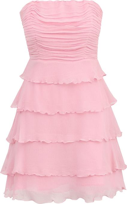 Różowa sukienka POTIS & VERSO gorsetowa bez rękawów mini