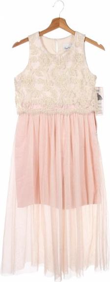 Różowa sukienka Rare Editions z okrągłym dekoltem