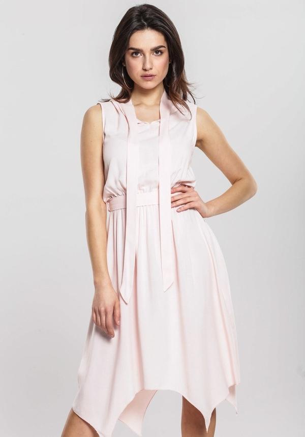 Różowa sukienka Renee asymetryczna