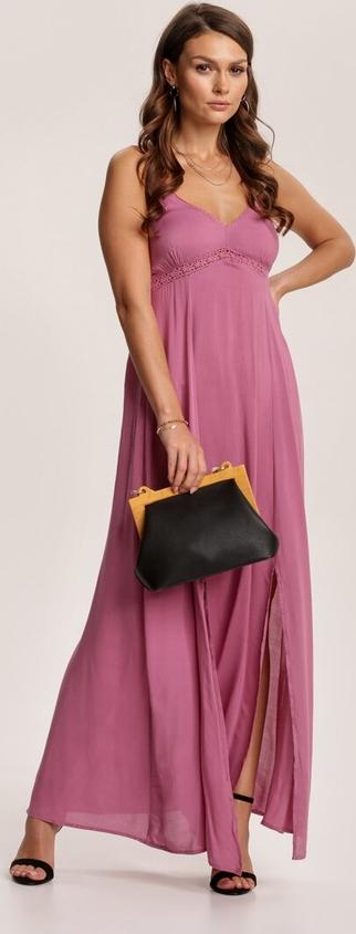 Różowa sukienka Renee na ramiączkach