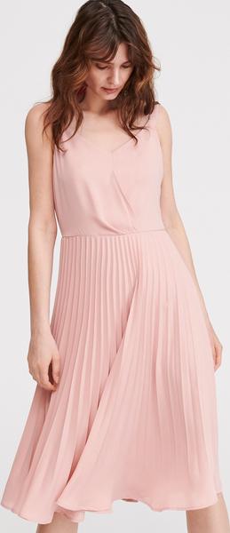 Różowa sukienka Reserved midi bez rękawów
