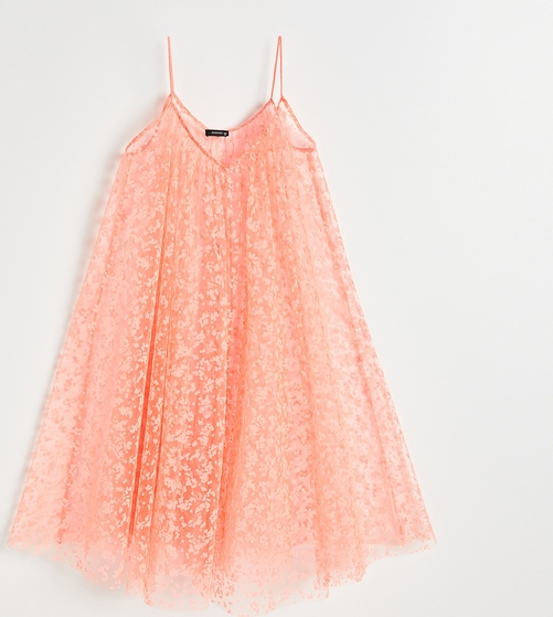Różowa sukienka Reserved na ramiączkach mini