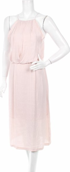 Różowa sukienka Samsøe & Samsøe bez rękawów