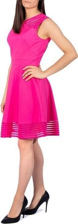 Różowa sukienka Ted Baker z okrągłym dekoltem bez rękawów mini