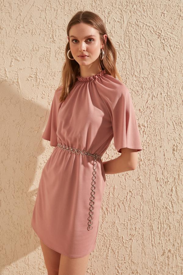 Różowa sukienka Trendyol mini