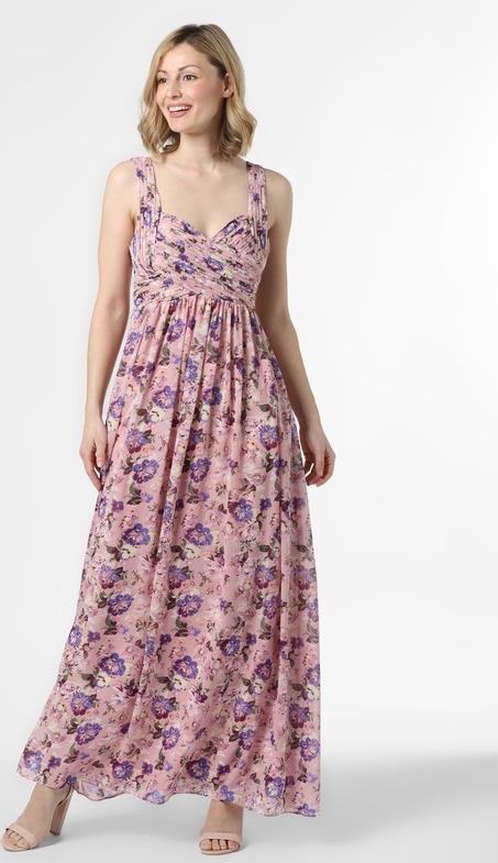 Różowa sukienka Vila maxi
