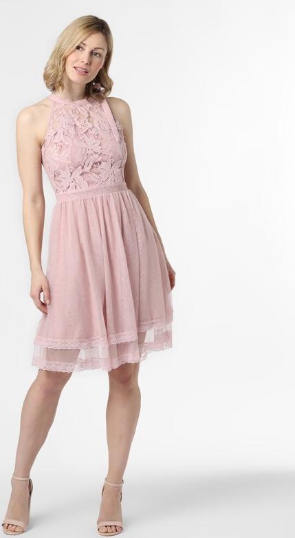 Różowa sukienka Vila mini rozkloszowana