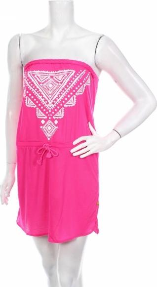 Różowa sukienka YAMAMAY mini gorsetowa bez rękawów
