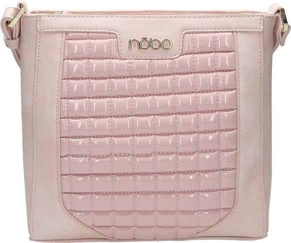 Różowa torebka leganza.pl w stylu casual pikowana