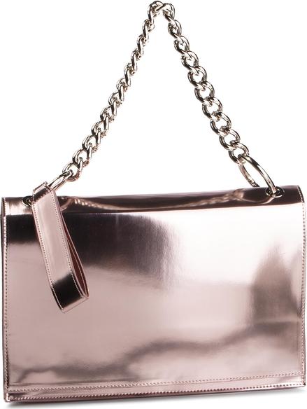 Różowa torebka Simple na ramię mała