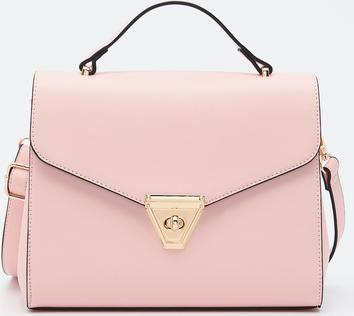 Różowa torebka Sinsay matowa do ręki