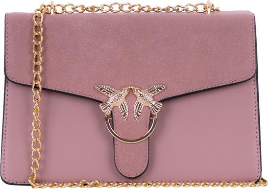 Różowa torebka Torebki Inspirowane na ramię mała z aplikacjami