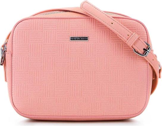 Różowa torebka Wittchen na ramię ze skóry ekologicznej
