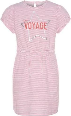 Różowa tunika dziewczęca name it z bawełny