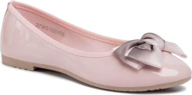 Różowe baleriny Jenny Fairy w stylu casual