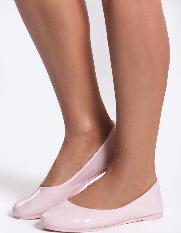 Różowe baleriny Renee w stylu casual z płaską podeszwą