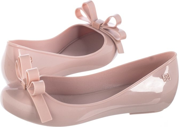 Różowe baleriny Zaxy w stylu casual