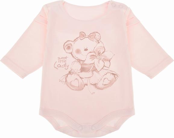 Różowe body niemowlęce Ewa Collection