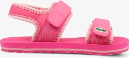 Różowe buty dziecięce letnie Lacoste