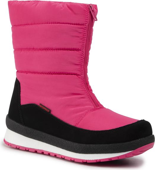 Różowe buty dziecięce zimowe CMP na zamek