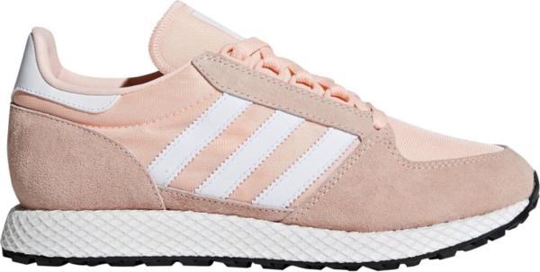 Różowe buty sportowe Adidas z płaską podeszwą