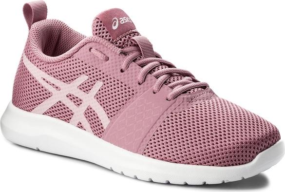 bbdf21971096a Różowe buty sportowe asics z płaską podeszwą sznurowane