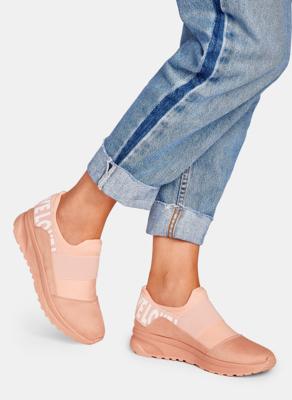 Różowe buty sportowe DeeZee z płaską podeszwą w sportowym stylu